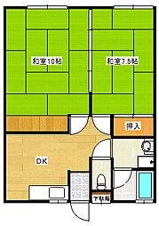 三山荘[2階]の間取り