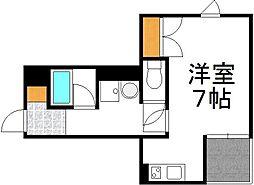 仮)下新庄5丁目アパート 1階ワンルームの間取り