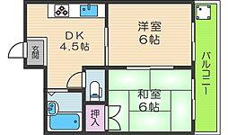 ギャレ田辺[1階]の間取り