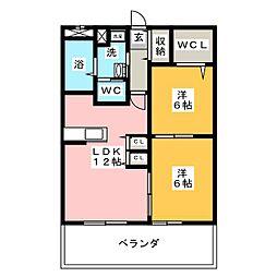 愛知県名古屋市千種区唐山町1丁目の賃貸マンションの間取り