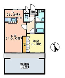 asunaro[103号室]の間取り