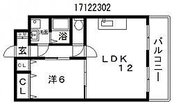 フィデスローザ[3階]の間取り