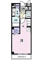 エバーグリーン本宿[2階]の間取り