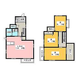 シャーメゾンスカイ[2階]の間取り