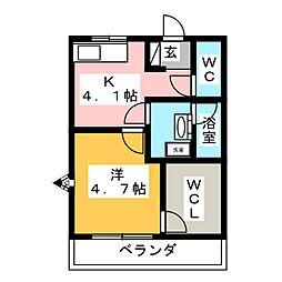 ブルージュハイム[2階]の間取り
