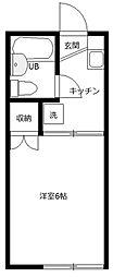 日生ハイムA号棟[1階]の間取り