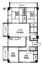 ロイヤルマンション小笹[2階]の間取り