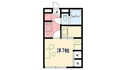 兵庫県西宮市大屋町の賃貸アパートの間取り