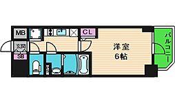 エスリード大阪城クローグ 12階1Kの間取り