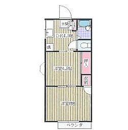 アイシークレフォート[2階]の間取り