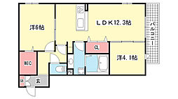 D-room灘北通[3階]の間取り