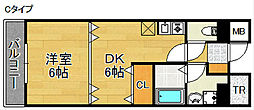 フォンテーヌ北館・南館[2階]の間取り