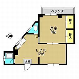 大正マンション[2階]の間取り