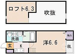 シーニュ金岡[1階]の間取り