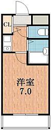ノーブル天王寺[8階]の間取り