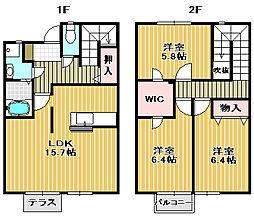 [テラスハウス] 大阪府堺市西区鳳中町10丁 の賃貸【/】の間取り