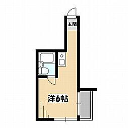 東京都中野区中野2丁目の賃貸マンションの間取り