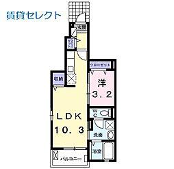 つくばエクスプレス 八潮駅 徒歩25分の賃貸アパート 1階1LDKの間取り