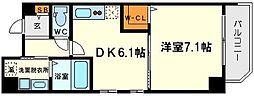 クリスタルグランツ新大阪[8階]の間取り