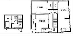 神奈川県横須賀市富士見町2丁目の賃貸アパートの間取り