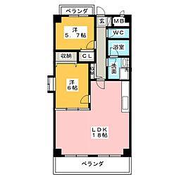 ビューコートソーワ[4階]の間取り