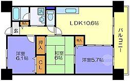 プロニティ・ユー[1階]の間取り