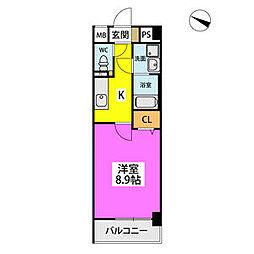 仮)ハイツウェルス4九大マンション 4階1Kの間取り