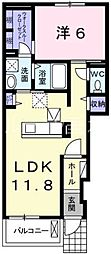 コンフォート(古坂)[1階]の間取り