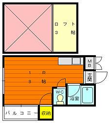 シャイナハイムA[1階]の間取り