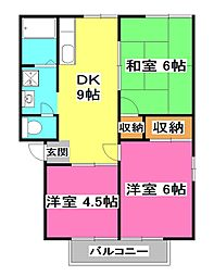 サンウィングA[2階]の間取り