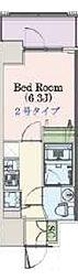 Osaka Metro千日前線 阿波座駅 徒歩3分の賃貸マンション 10階1Kの間取り