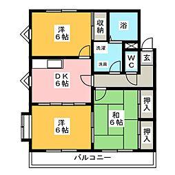 サンヴィラ篠田[1階]の間取り