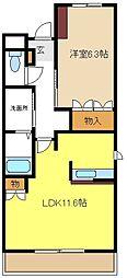 愛知県名古屋市瑞穂区仁所町2丁目の賃貸マンションの間取り