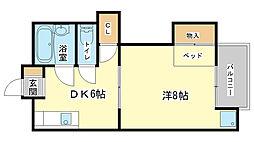 兵庫県姫路市城北本町の賃貸マンションの間取り