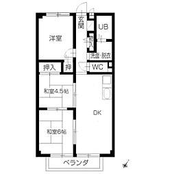 フォブール田村[2階]の間取り