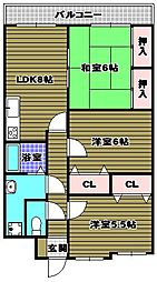 パークヒルズ千代田[2階]の間取り