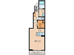 和歌山県和歌山市福島の賃貸アパートの間取り