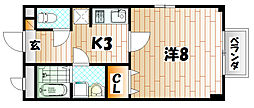 シャトー長尾[2階]の間取り