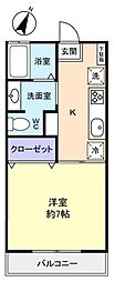 千葉県佐倉市王子台3丁目の賃貸アパートの間取り