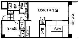 ドミール川崎[605号室]の間取り