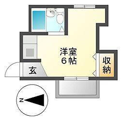 鶴田マンション[3階]の間取り