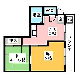 大西ビル[2階]の間取り