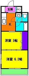 静岡県磐田市池田の賃貸マンションの間取り