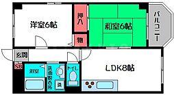 イディアハイツ[2階]の間取り