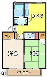 ハイライズ宇田川[2階]の間取り
