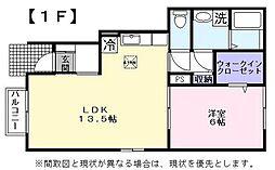 JR東海道・山陽本線 彦根駅 徒歩23分の賃貸アパート 1階1LDKの間取り
