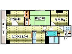 アーバンシティ金子[2階]の間取り