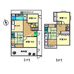 [一戸建] 高知県高知市東久万 の賃貸【/】の間取り