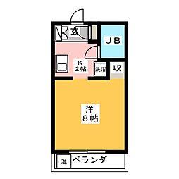 コーポ・モノキャッスル[4階]の間取り