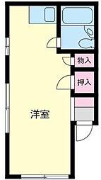 神奈川県相模原市中央区青葉1丁目の賃貸マンションの間取り